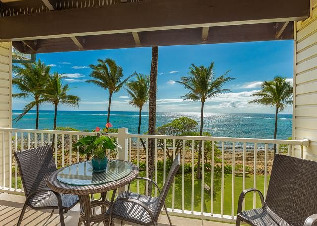Enjoy beautiful oceanfront views from your lanai