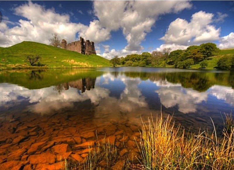 Morton Castle only a few miles away.