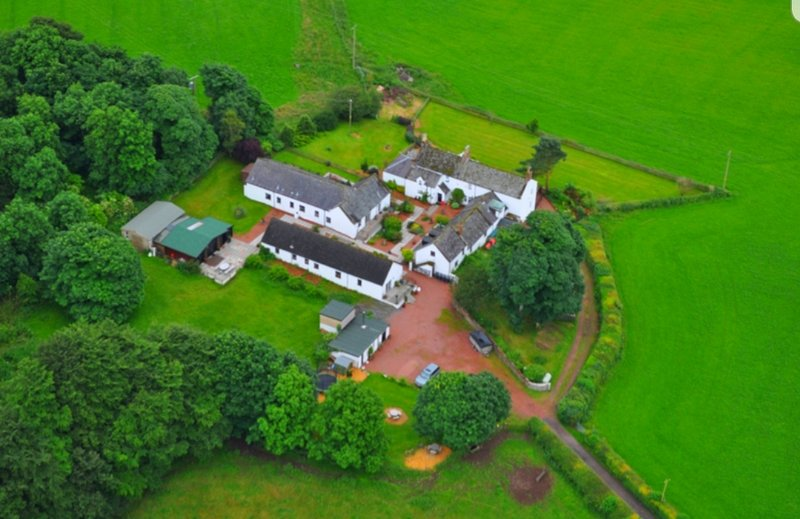 Birdseye view of Templand Cottages