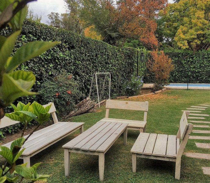 Nuestro hermoso jardín se disfruta durante las 4 estaciones en Berdina.