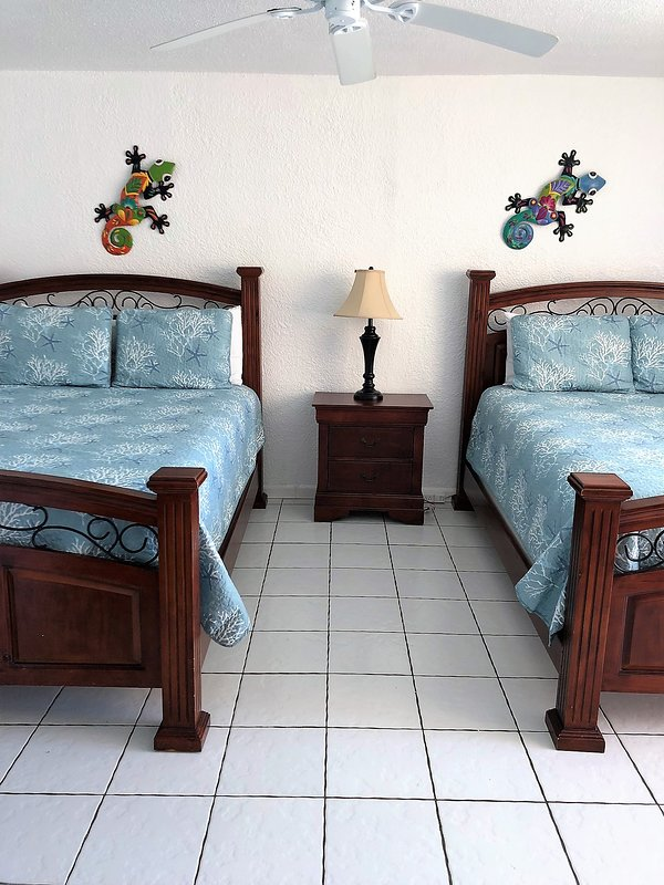 second bedroom, two queen beds with full bath and balcony