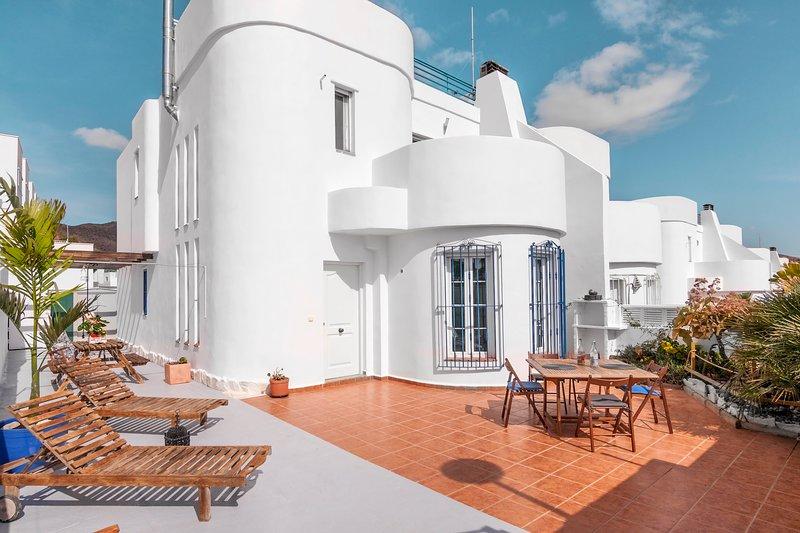 Casa Aloe Pro Vacation Home in San Jose, relaxed zone with sea and mountain view, alquiler de vacaciones en Cabo de Gata