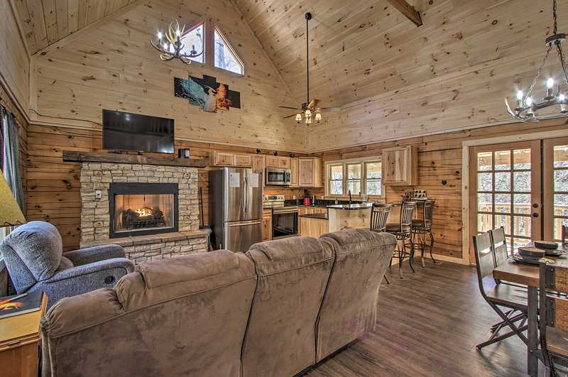 Spacious and cozy at the same time, this 3-bedroom, 2-bath cabin is a winner!