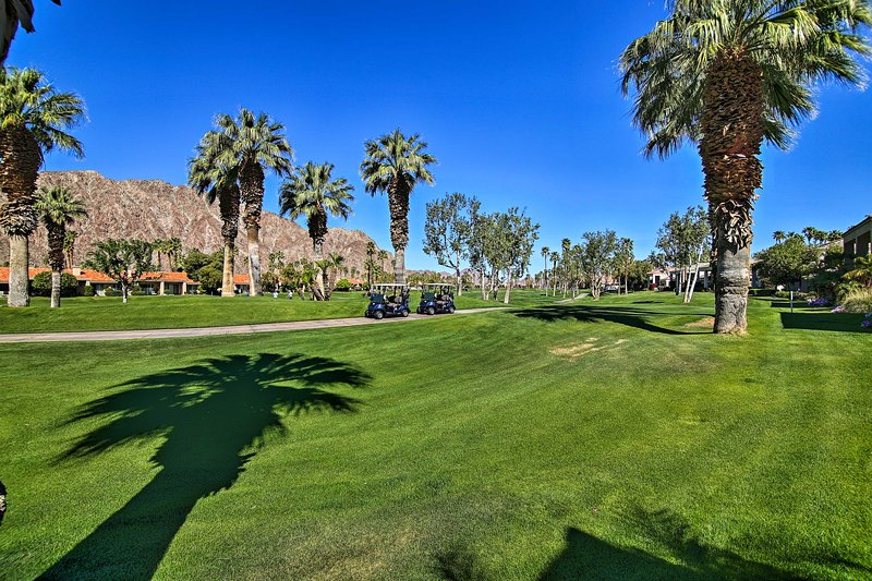 Hit the links at the PGA West course right in your backyard.