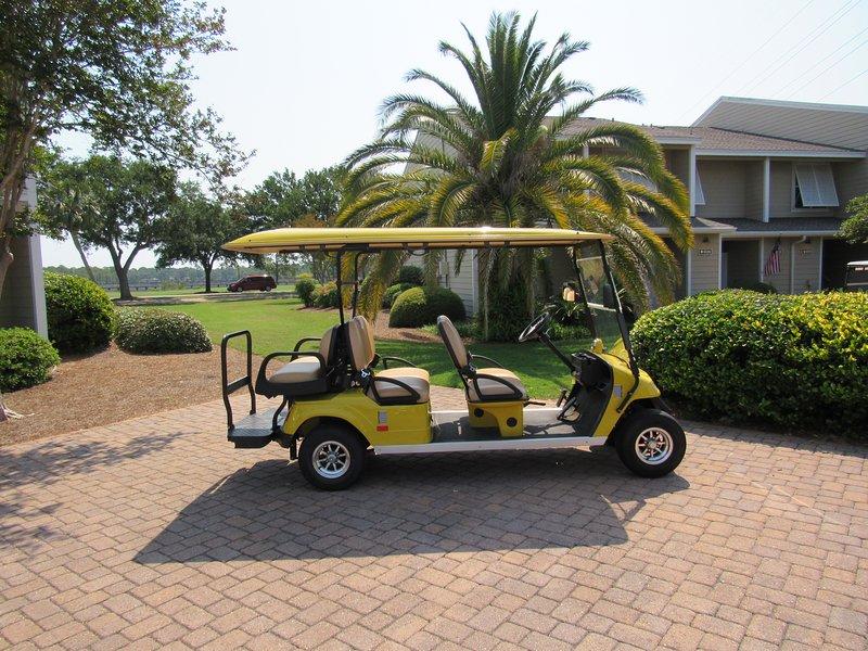FREE 6 passenger golf cart with rental