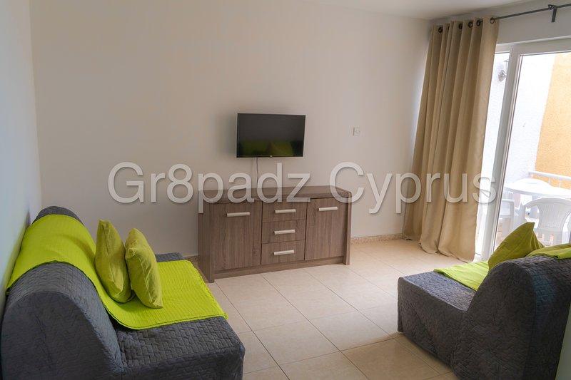 Gr8padz - Napa Jade 2 bdrm apt sleeps 6, swimming pool. Great value!, vacation rental in Deryneia