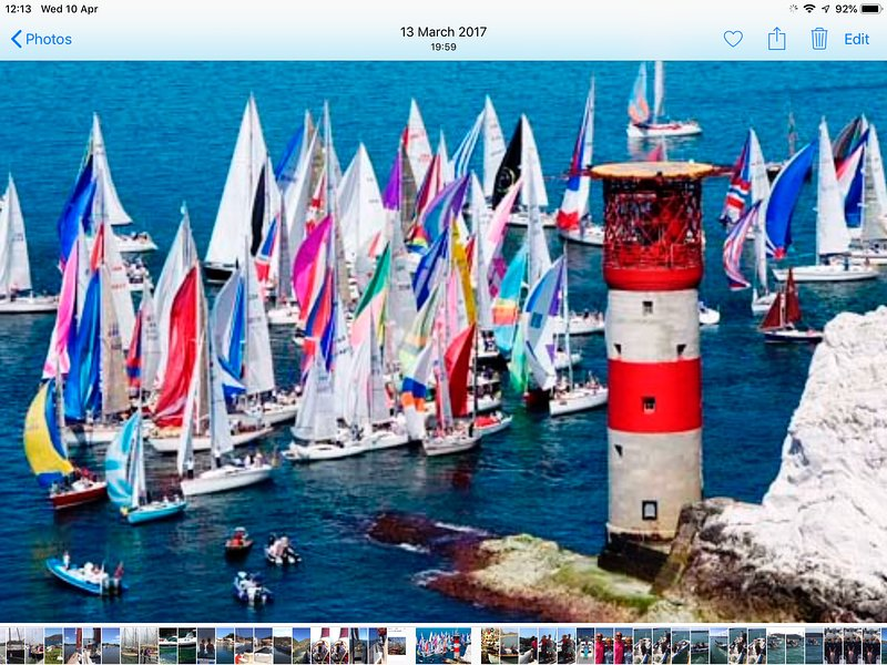 Famous Round the Island Yacht race.  This passes your balcony.  An amazing sight