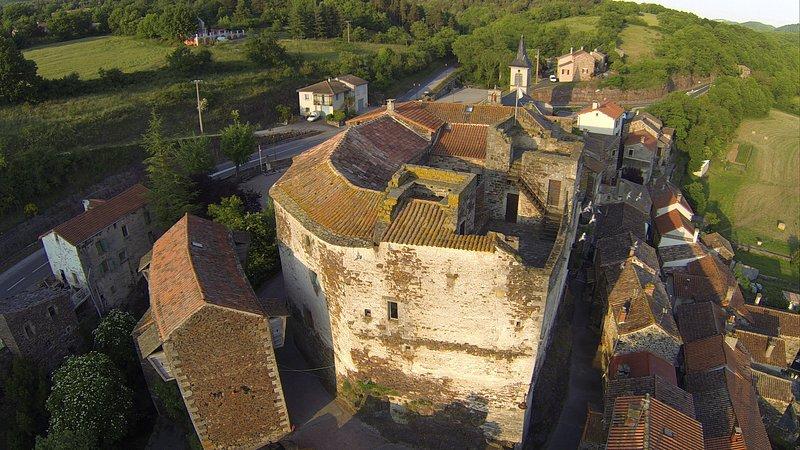 Latour Castle facing West.