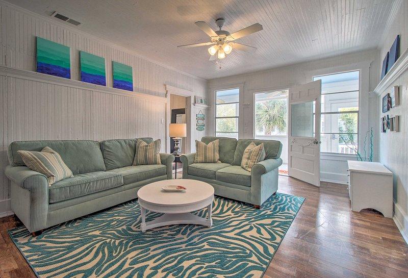 Ce charmant appartement de location de vacances à Tybee Island vous attend!