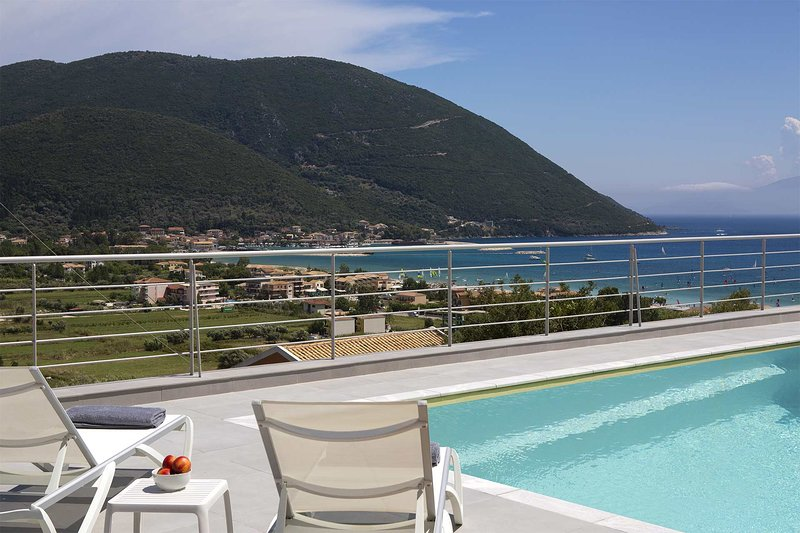 Modern Villa W with Private Pool & View, in Vasiliki Lefkada, vacation rental in Kontarena