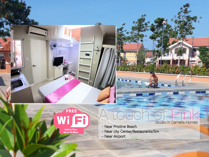 A touch of Pink - Studio apartment near pristine beach - Fiber Internet 5Ombps, holiday rental in Palawan Province