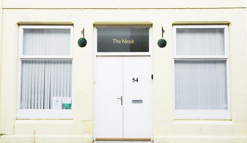 Front door.  Both doors open for wheelchair access