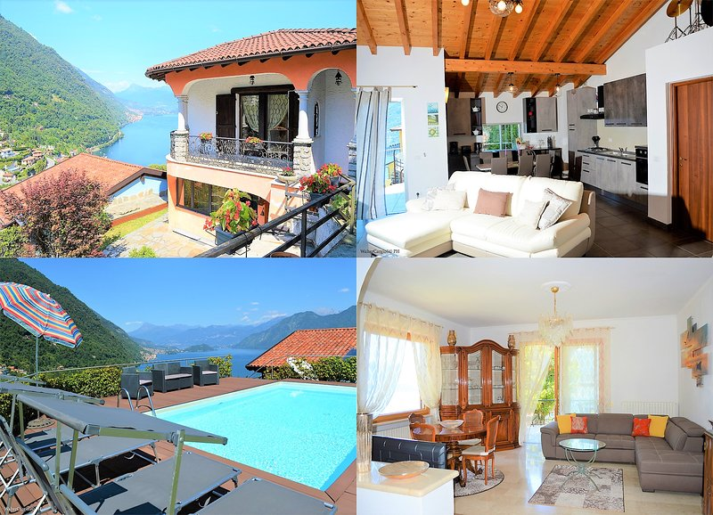 Charming small residence Villa Rosa,amazing view and private pool, location de vacances à Argegno