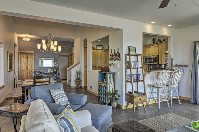 With 1,900 square feet of living space, this home has plenty of privacy.