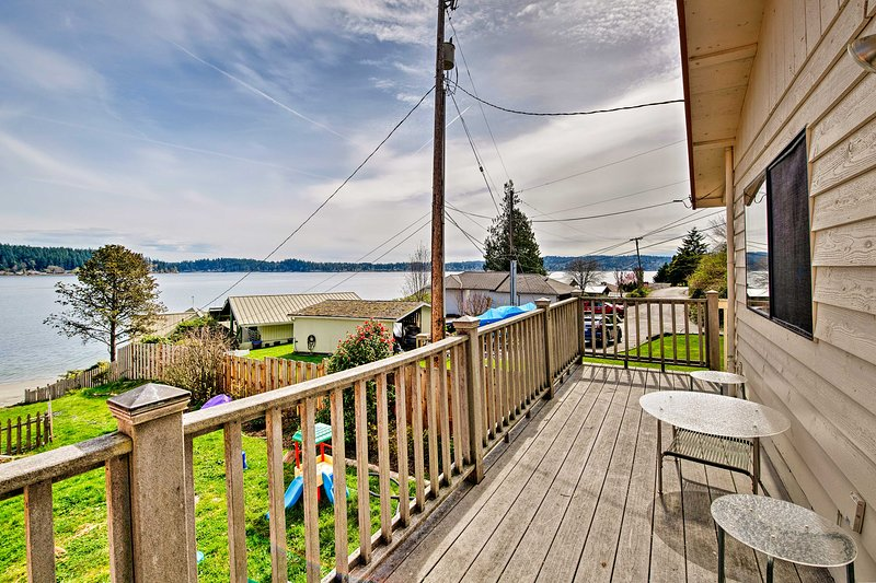 Step out to your private deck and enjoy the views.