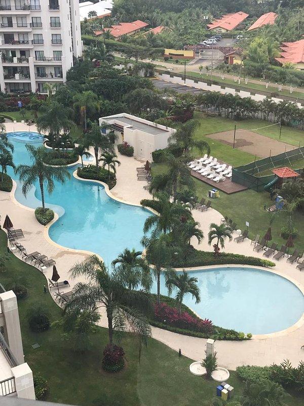 Pool from balcony.