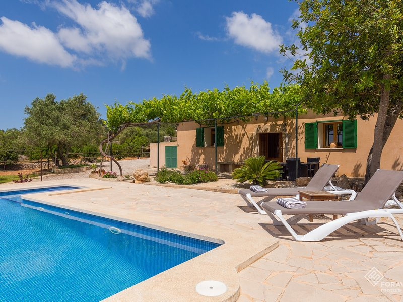 Son Fornes - Beautiful villa with pool and garden in Algaida, vacation rental in Algaida
