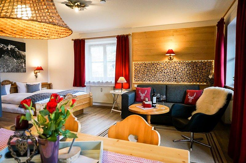 Einzimmerappartement Schwansee oder Alpsee neu renoviert, holiday rental in Fussen