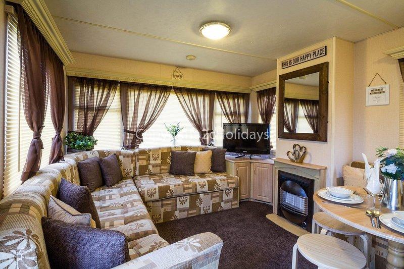 Great living area in this 8 berth caravan
