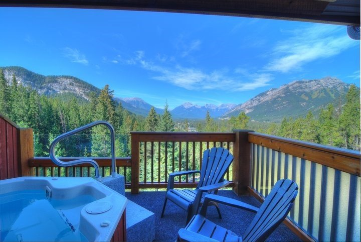 Enjoy this million dollar view from your private hot tub!