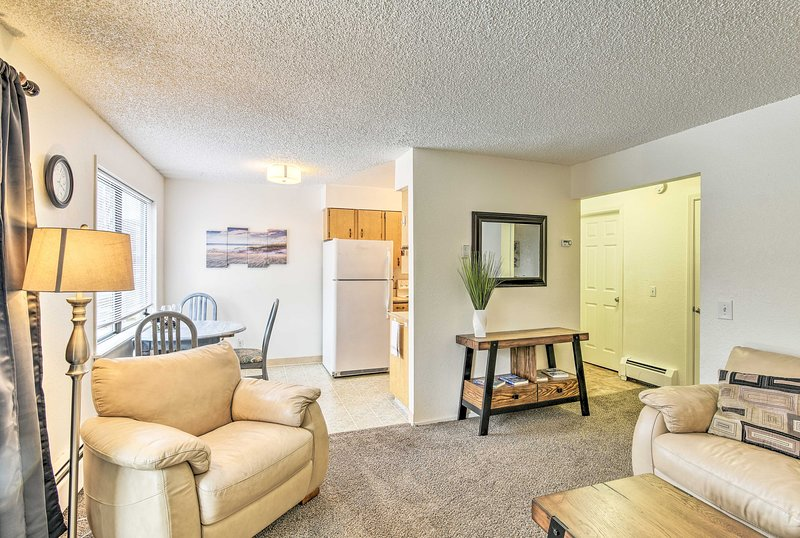 This 1-bedroom, 1-bath vacation rental offers all the comforts of home.