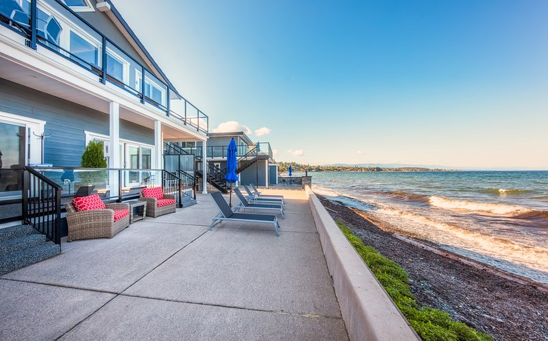 Walk off your private patio onto the beach or hang out, BBQ or lounge in the common courtyard