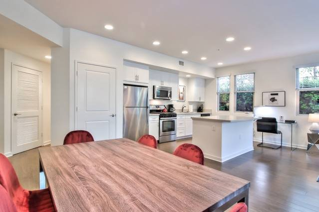Dining Area + Kitchen (Oven + Stove-top + Microwave + Essentials Provided)