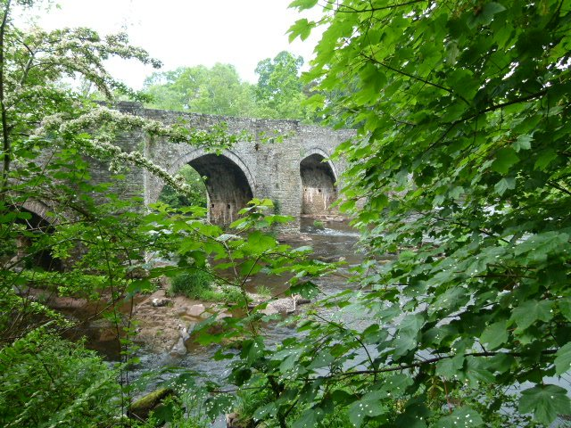 Llangynidr Bridge, one of many historic bridges in the area.