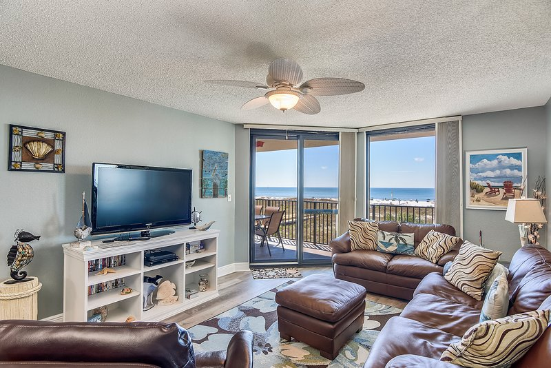Spacious Living Area offers Access to the Balcony and Fantastic Views