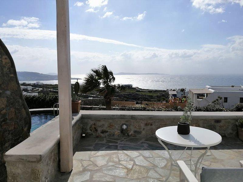 Kipos Villas and Suites (Lavender Studio Sea & Garden View), aluguéis de temporada em Klouvas