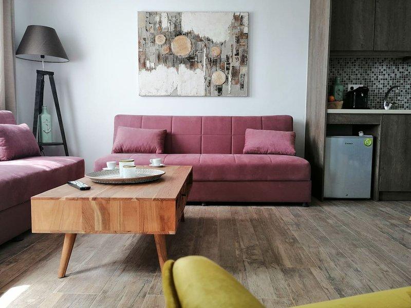Kipos Villas and Suites (Jasmine Garden & Sea View), aluguéis de temporada em Klouvas
