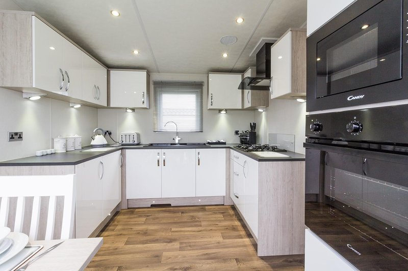 Stunning kitchen in the caravan for let