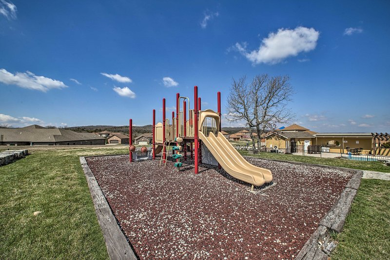 Play at the playground or in the community pool!
