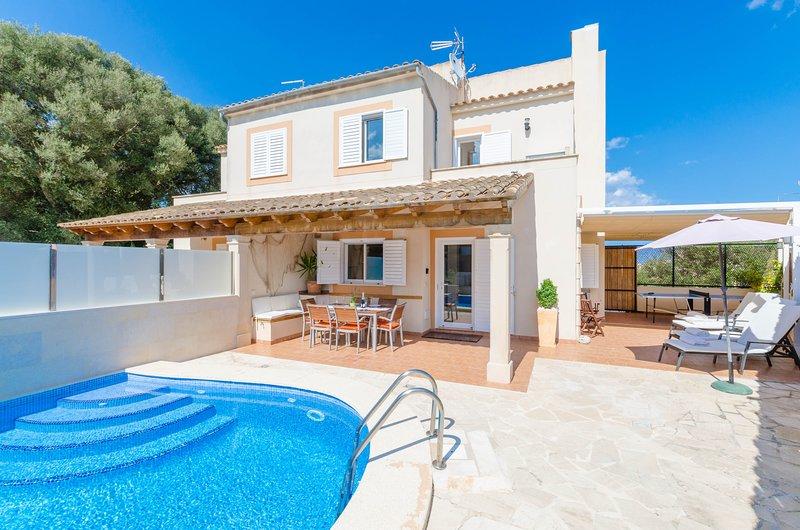CASA LENA - Villa for 6 people in PORTOCOLOM, holiday rental in Cala Marcal