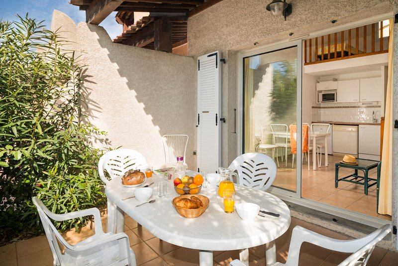 Open the door and step out onto your private terrace!