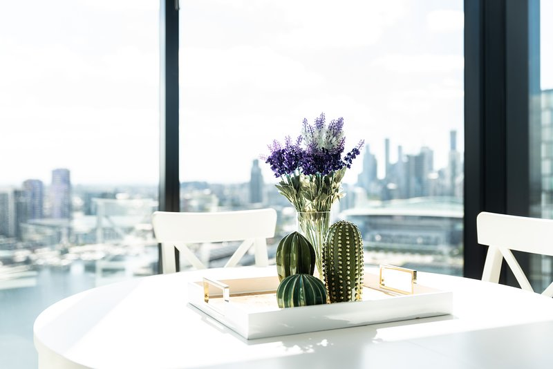 Melbourne Private Apartments - Luxury Sky High 2 Bedroom / 2 Bath Harbour Views Apartments Docklands