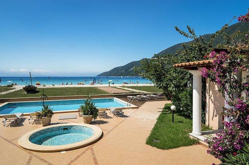 Beachfront Villa Zoe- Villas Aktes in Vasiliki bay, holiday rental in Vasiliki