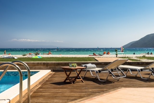 Beachfront Villa Aleni- Villas Aktes in Vasiliki bay, holiday rental in Vasiliki