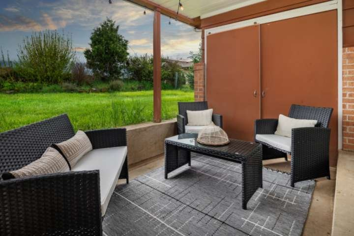 You won't want to miss relaxing on the patio with a glass of your favorite pinot.