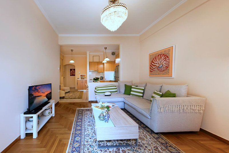 Nice and Clean Apt near Metro Panormou, holiday rental in Filothei