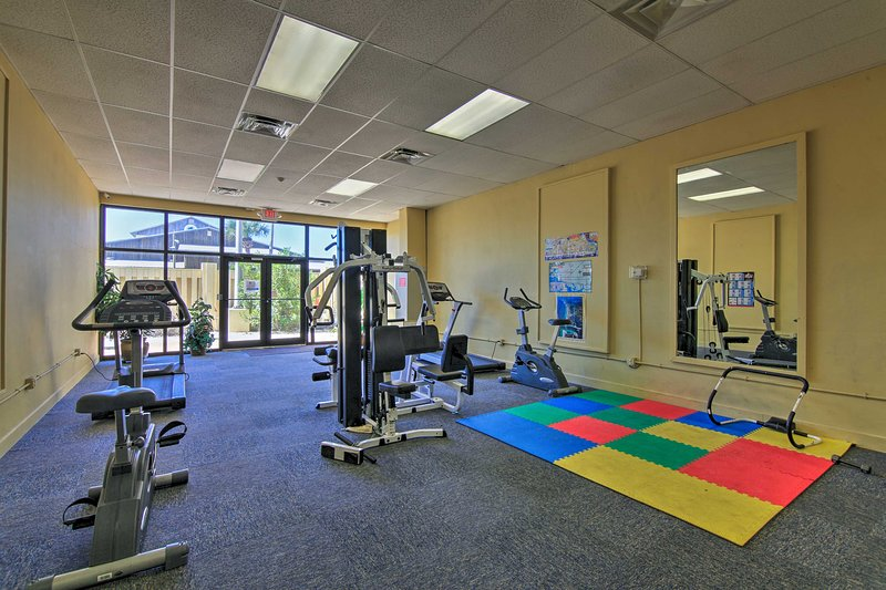 Work out in the community fitness center!