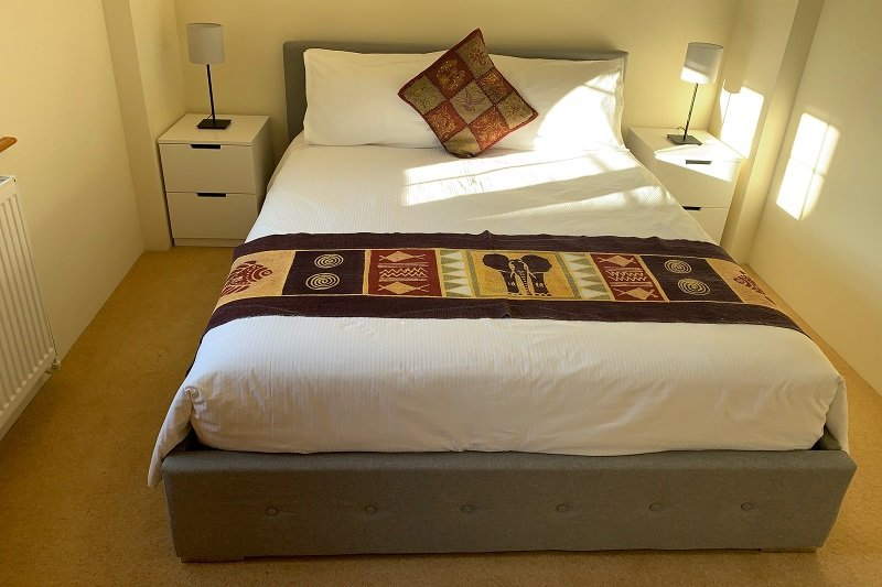 The bedroom with king size bed