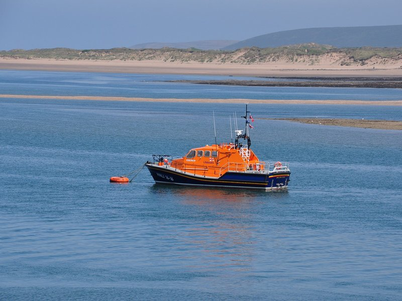 Views of Appledore lifeboat from Appledore Quay