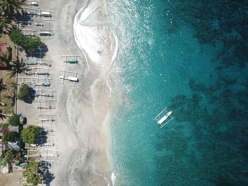 White Sand Beach 10 min drive away