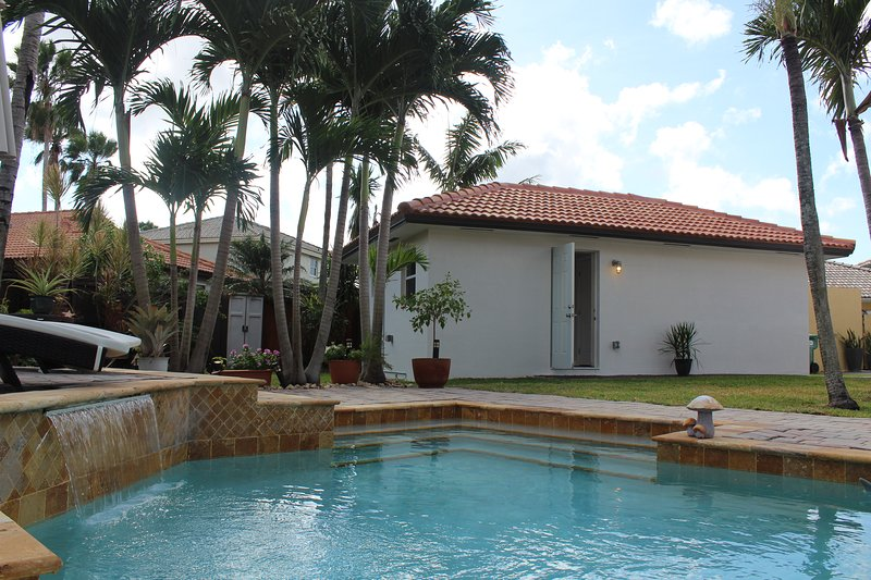 Your guest house and private pool