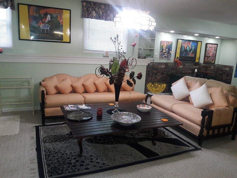 Sección de sala de estar.