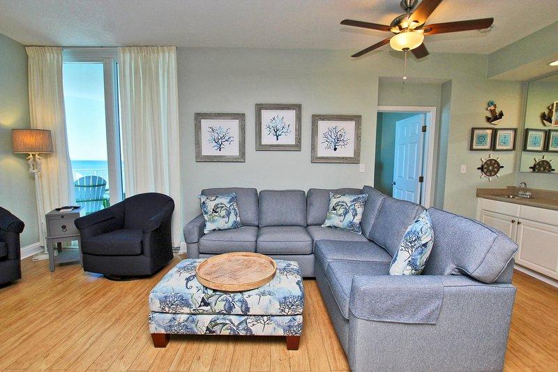 Grand canapé-lit sectionnel