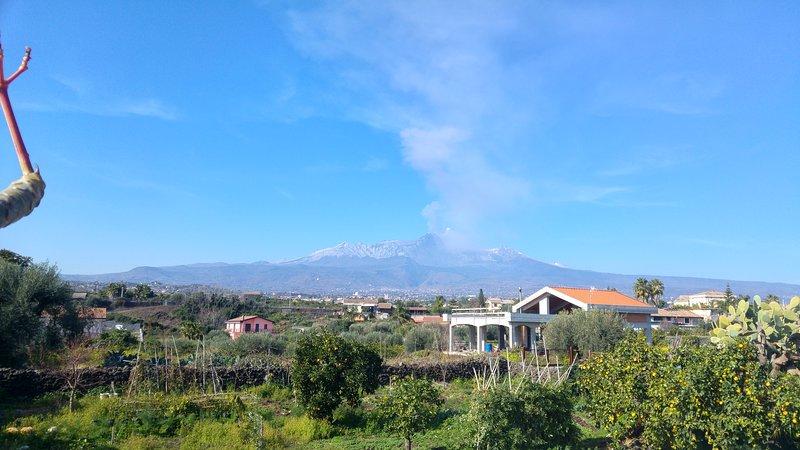 Vista Monte Etna dalla Casa del Sole