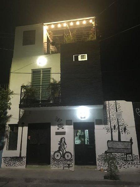 Facade of the hostel.