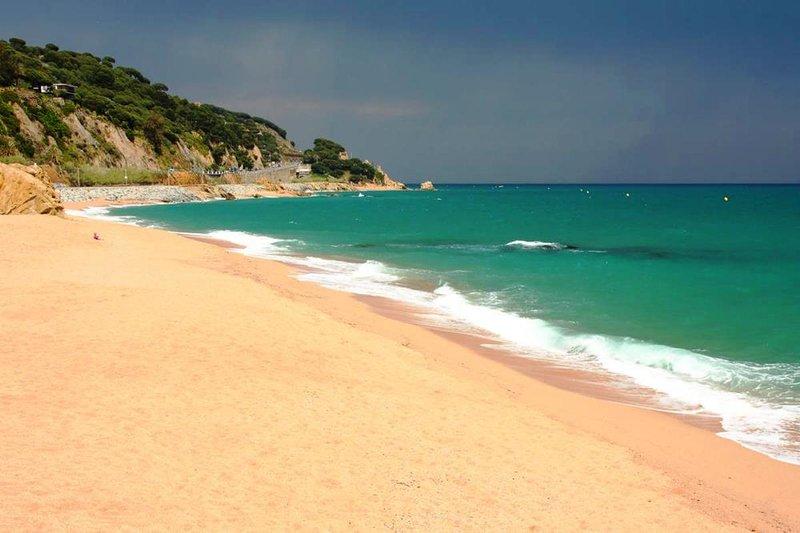 Beach of Sant Pol de Mar.